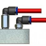 Złączki typu PL i PLL - przykład montażu